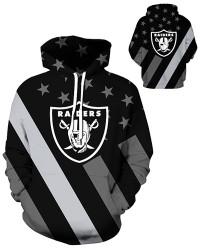 DQYDM441 3D Digital Printed NFL Oakland Raiders Football Team Sport Hoodie Unisex Hoodie With Hat