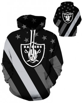 DQYDM441 3D Digital Printed NFL Oakland Raiders Football Team Sport Hoodie Unisex Hoodie With Hat
