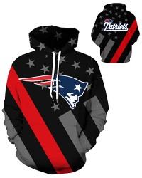 DQYDM442 3D Digital Printed NFL New England Patriots Football Team Sport Hoodie Unisex Hoodie With Hat