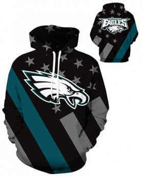 DQYDM443 3D Digital Printed NFL Philadelphia Eagles Football Team Sport Hoodie Unisex Hoodie With Hat