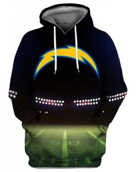 FGS0238 3D Digital Printed NFL Los Angeles Chargers Football Team Sport Hoodie Unisex Fit Style Hoodie With Hat
