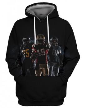 FGS0239 3D Digital Printed NFL Players Football Team Sport Hoodie Unisex Fit Style Hoodie With Hat