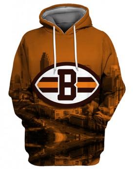 FGS0241 3D Digital Printed NFL Cleveland Browns Football Team Sport Hoodie Unisex Fit Style Hoodie With Hat