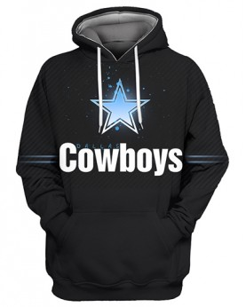 FGS0242 3D Digital Printed NFL Dallas Cowboys Football Team Sport Hoodie Unisex Fit Style Hoodie With Hat