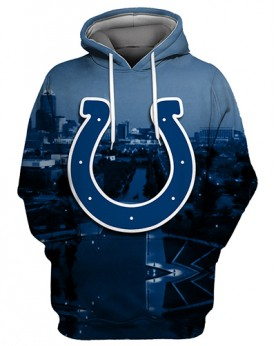 FGS0243 3D Digital Printed NFL Indianapolis Colts Football Team Sport Hoodie Unisex Fit Style Hoodie With Hat