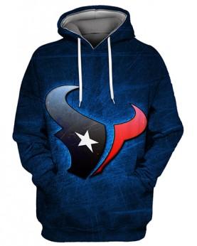 FGS0244 3D Digital Printed NFL Houston Texans Football Team Sport Hoodie Unisex Fit Style Hoodie With Hat