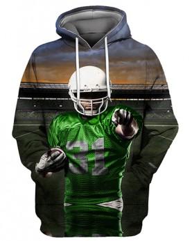 FGS0247 3D Digital Printed NFL Players Logo Football Team Sport Hoodie Unisex Fit Style Hoodie With Hat