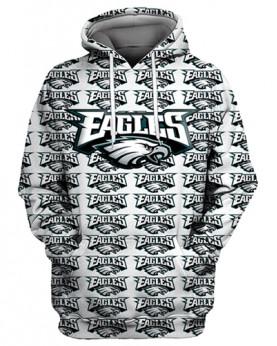 FGS0248 3D Digital Printed NFL Philadelphia Eagles Football Team Sport Hoodie Unisex Fit Style Hoodie With Hat