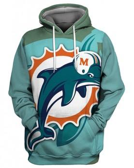 FGS0250 3D Digital Printed NFL Miami Dolphins s Football Team Sport Hoodie Unisex Fit Style Hoodie With Hat