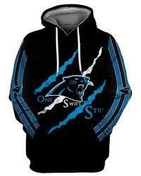 FGS0252 3D Digital Printed NFL Carolina Panthers Football Team Sport Hoodie Unisex Fit Style Hoodie With Hat