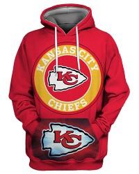 FGS0253 3D Digital Printed NFL Kansas City Chiefs Football Team Sport Hoodie Unisex Fit Style Hoodie With Hat
