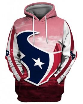 FGS0255 3D Digital Printed NFL Houston Texans Football Team Sport Hoodie Unisex Fit Style Hoodie With Hat