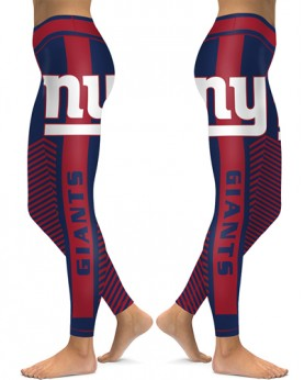 DBAQ559 High Waist NFL New York Giants Football Team 4Needle 6Thread Stitcking Sports Leggings