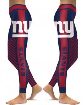 DBAQ559 High Waist NFL New York Giants Football Team 4Needle 6Thread Stitcking Sports Leggings