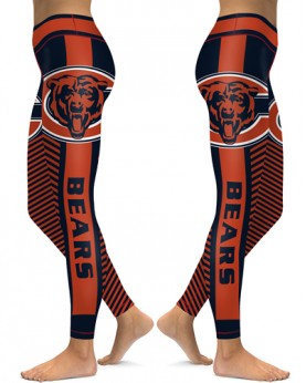 DBAQ560 High Waist NFL Chicago Bears Football Team 4Needle 6Thread Stitcking Sports Leggings