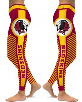 DBAQ561 High Waist NFL Washington Redskins Football Team 4Needle 6Thread Stitcking Sports Leggings
