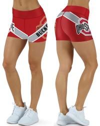 DBDQ029 American University Ohio State Buckeyes 4Needle 6Thread Stitcking College Team Sports Shorts