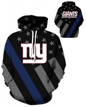 DQYDM446 3D Digital Printed NFL New York Giants Football Team Sport Hoodie Unisex Hoodie With Hat