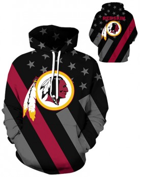 DQYDM448 3D Digital Printed NFL Washington Redskins Football Team Sport Hoodie Unisex Hoodie With Hat
