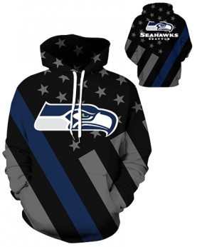 DQYDM449 3D Digital Printed NFL Seattle Seahawks Football Team Sport Hoodie Unisex Hoodie With Hat