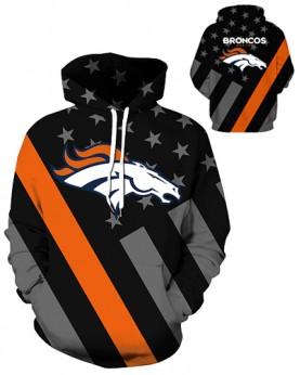 DQYDM450 3D Digital Printed NFL Denver Broncos Football Team Sport Hoodie Unisex Hoodie With Hat
