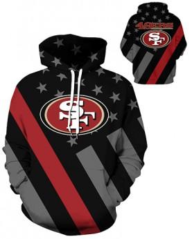DQYDM453 3D Digital Printed NFL San Francisco 49ers Football Team Sport Hoodie Unisex Hoodie With Hat