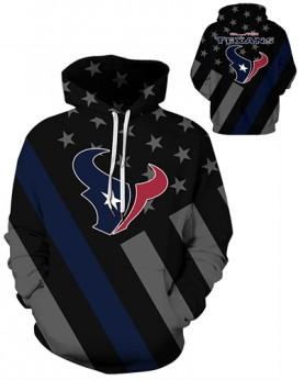 DQYDM454 3D Digital Printed NFL Houston Texans Football Team Sport Hoodie Unisex Hoodie With Hat