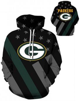 DQYDM455 3D Digital Printed NFL Green Bay Packers Football Team Sport Hoodie Unisex Hoodie With Hat