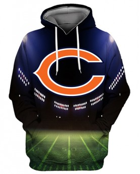 FGS0256 3D Digital Printed NFL Chicago Bears Football Team Sport Hoodie Unisex Fit Style Hoodie With Hat