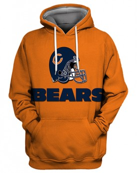 FGS0257 3D Digital Printed NFL Chicago Bears Football Team Sport Hoodie Unisex Fit Style Hoodie With Hat