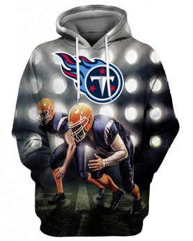 FGS0258 3D Digital Printed NFL Tennessee Titans Football Team Sport Hoodie Unisex Fit Style Hoodie With Hat