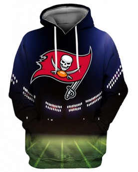 FGS0261 3D Digital Printed NFL Tampa Bay Buccaneers Football Team Sport Hoodie Unisex Fit Style Hoodie With Hat