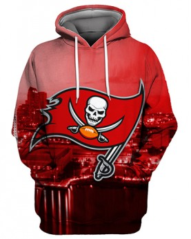 FGS0262 3D Digital Printed NFL Tampa Bay Buccaneers Football Team Sport Hoodie Unisex Fit Style Hoodie With Hat