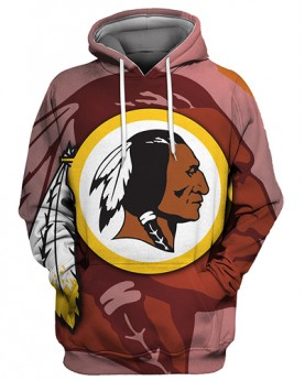 FGS0263 3D Digital Printed NFL Washington Redskins Football Team Sport Hoodie Unisex Fit Style Hoodie With Hat