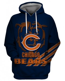 FGS0264 3D Digital Printed NFL Chicago Bears Football Team Sport Hoodie Unisex Fit Style Hoodie With Hat