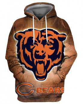 FGS0266 3D Digital Printed NFL Chicago Bears Football Team Sport Hoodie Unisex Fit Style Hoodie With Hat