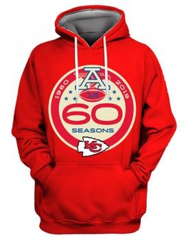 FGS0507 3D Digital Printed NFL Kansas City Chiefs Football Team Sport Hoodie Unisex Fit Style Hoodie With Hat