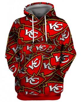 FGS0511 3D Digital Printed NFL Kansas City Chiefs Football Team Sport Hoodie Unisex Fit Style Hoodie With Hat
