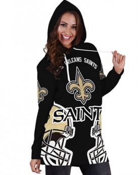 DBHS013 Pre-Order 3D Printed NFL New Orleans Saints Football Team Sport Hoodie Dress