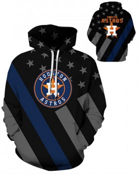 DQYDM459 3D Digital Printed MLB Houston Astros Baseball Team Sport Hoodie Unisex Hoodie With Hat
