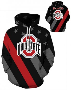 DQYDM463 3D Digital Printed American University Ohio State Buckeyes Football Team Sport Hoodie Unisex Hoodie With Hat