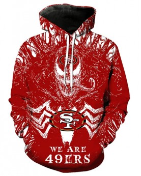FGE7135 3D Digital Printed NFL San Francisco 49ers Football Team Sport Hoodie With Hat