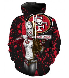 FGF6237 3D Digital Printed NFL San Francisco 49ers Football Team Sport Hoodie With Hat