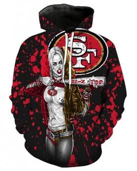 FGF6237 3D Digital Printed NFL San Francisco 49ers Football Team Sport Hoodie With Hat