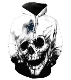 FGF6246 3D Digital Printed NFL Dallas Cowboys Football Team Sport Hoodie With Hat