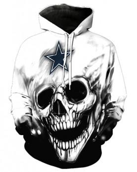 FGF6246 3D Digital Printed NFL Dallas Cowboys Football Team Sport Hoodie With Hat
