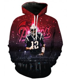 FGF7183 3D Digital Printed NFL New England Patriots Football Team Sport Hoodie With Hat