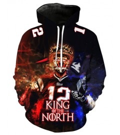 FGF7184 3D Digital Printed NFL New England Patriots Football Team Sport Hoodie With Hat