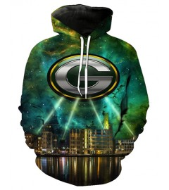 FGF7384 3D Digital Printed NFL Green Bay Packers Football Team Sport Hoodie With Hat