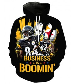 FGF7401 3D Digital Printed NFL Pittsburgh Steelers Football Team Sport Hoodie With Hat